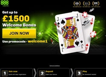 888casino blackjack bonuses