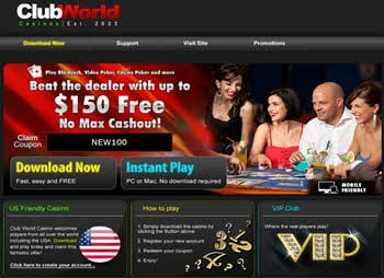 clubworld casinos 150% bonuses