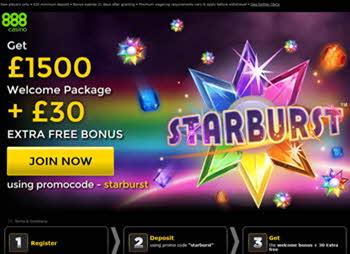 Casino888 Starburst bonuses