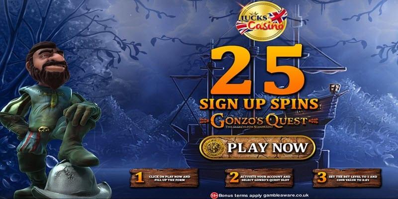 Luckscasino 25 free spins