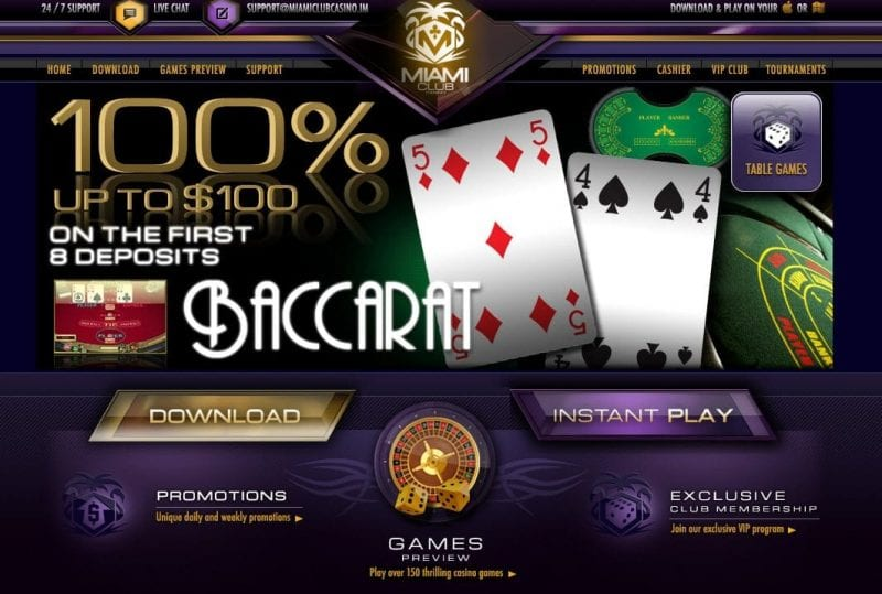 baccarat casino on line miamiclub