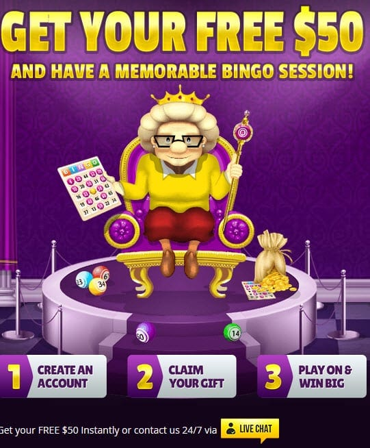 bingo for money 50 free bonus