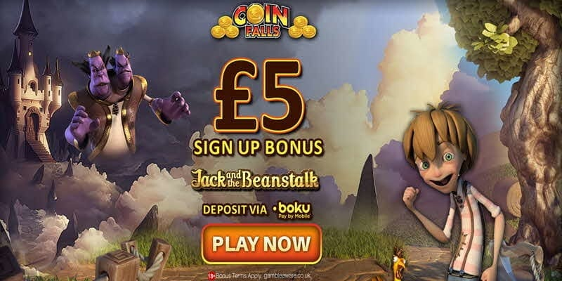 5 sign up bonuses coinfalls casino