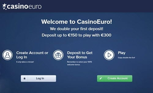 Casino euro bonus registration review