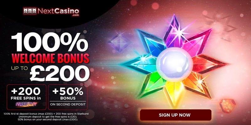 200 free spins nextcasino