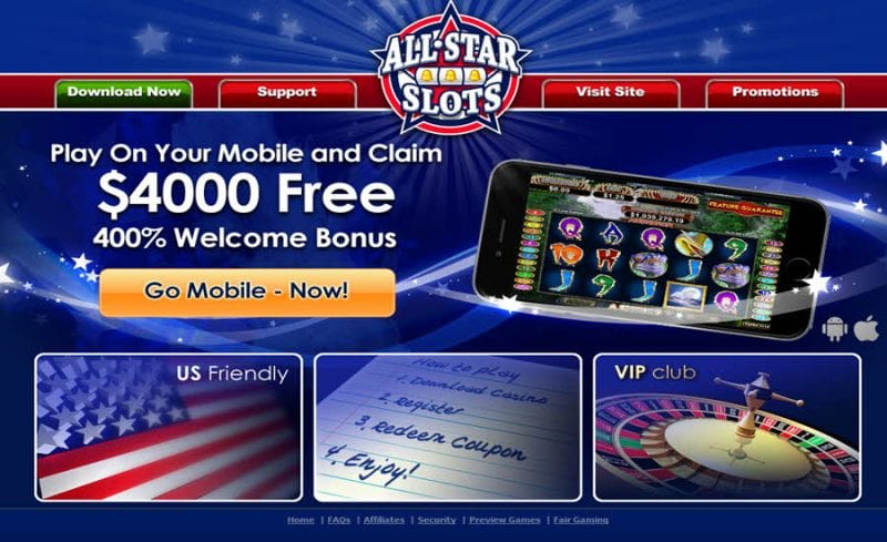all star slots mobile bonus