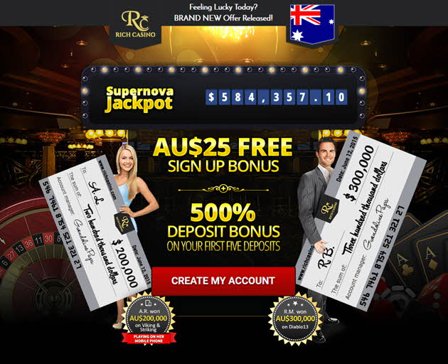 rich casino bonus code