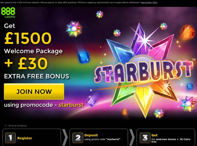 starburst casino on line 888