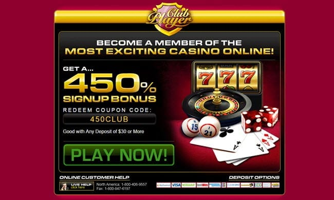 no deposit bonus for club player casino