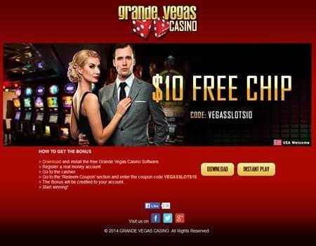 Grande Vegas 10 Free Spins