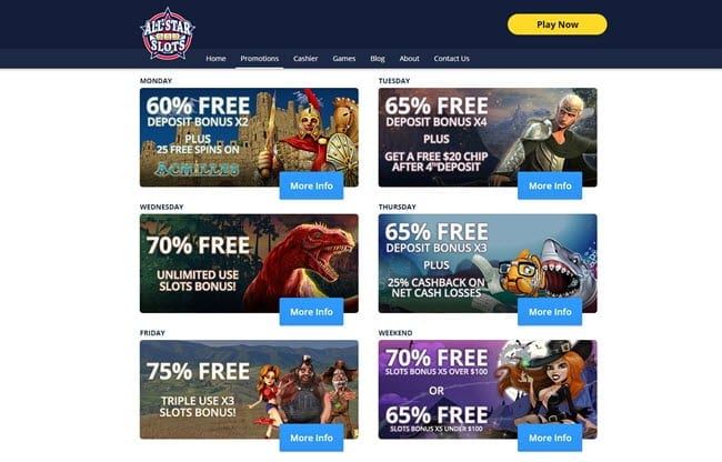 All Star Slots Casino No Deposit Bonus Codes 2020 20 Free Spins Here