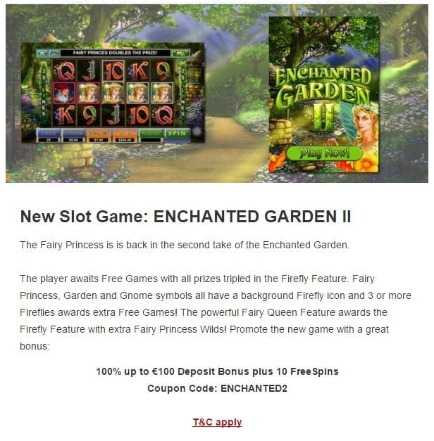golden euro casino bonus enchanted garden 2