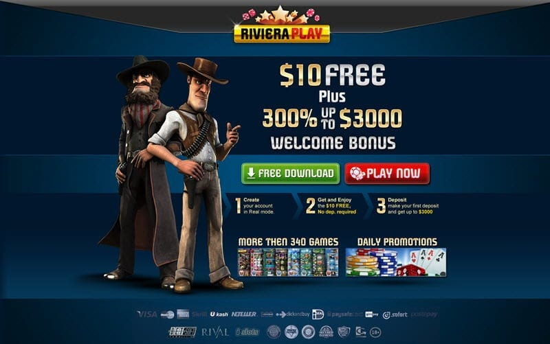 riveraplay casino exclusive bonus $10 free