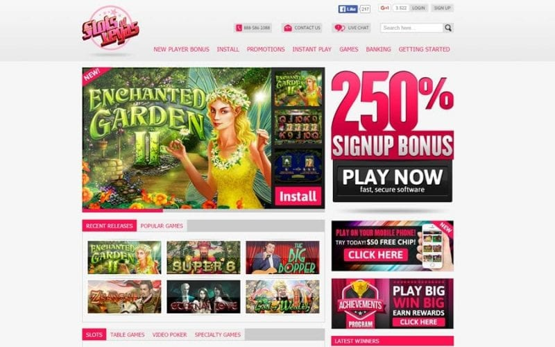 slots of vegas casino on line bonus codes