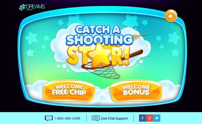 dreams casino catch a shooting star
