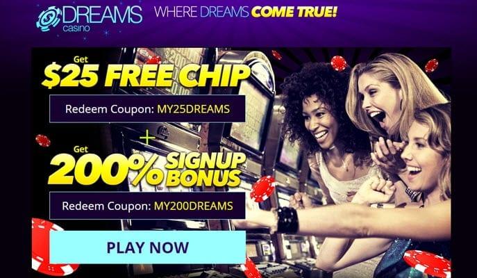 dreams casino 200 no deposit bonus codes