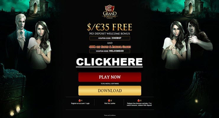 grand online casino no deposit bonus