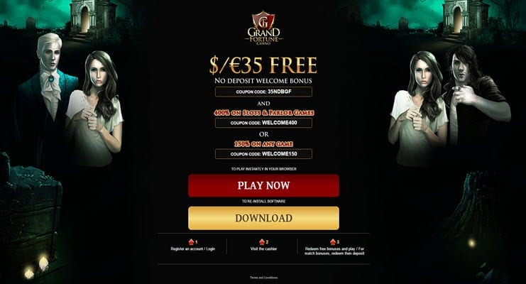 grand fortune casino no deposit bonus welcome