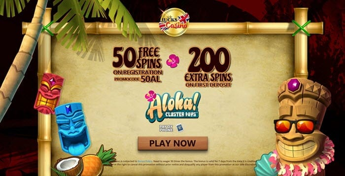 lucks casino free spins bonus extra