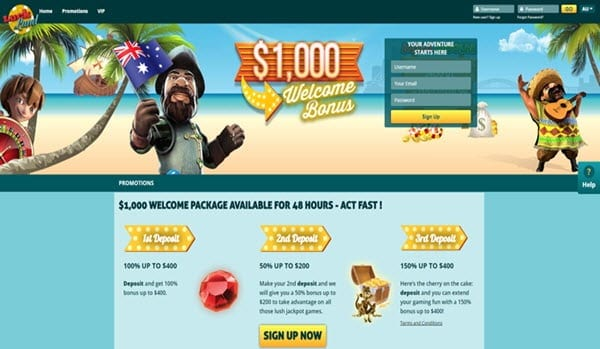luck land casino welcome bonus