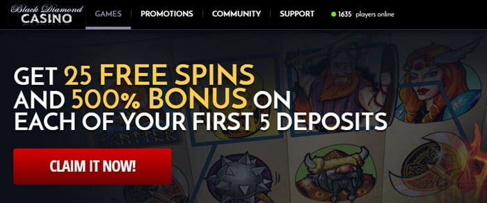 black diamond casino free coins