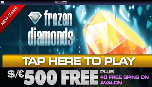 crazy vegas casino bonus frozen diamonds