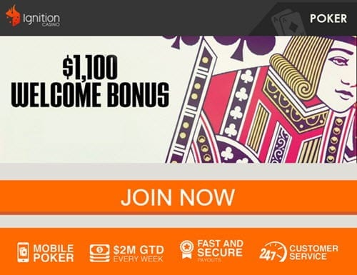 ignition casino mobile poker bonus