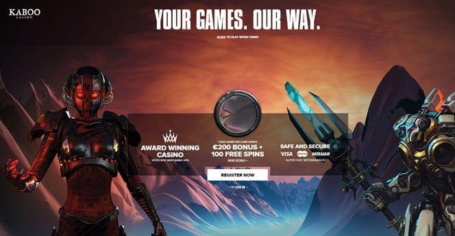 kaboo casino free spins bonus
