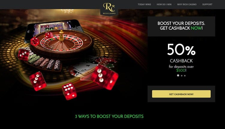 rich casino new player bonus