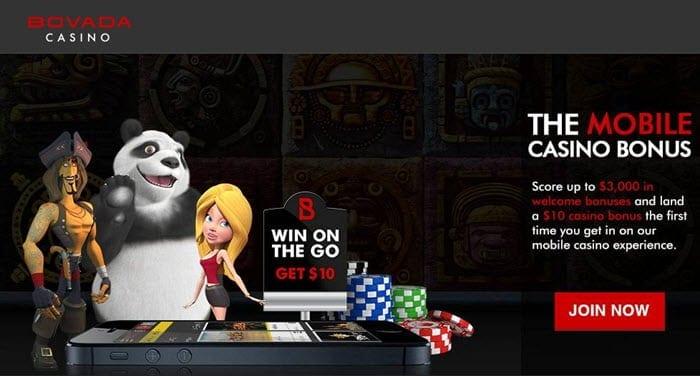 bovada casino mobile bonus