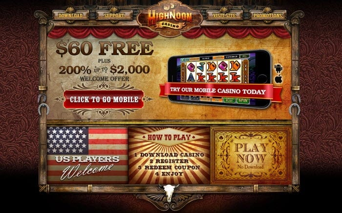 high noon casino mobile bonus codes