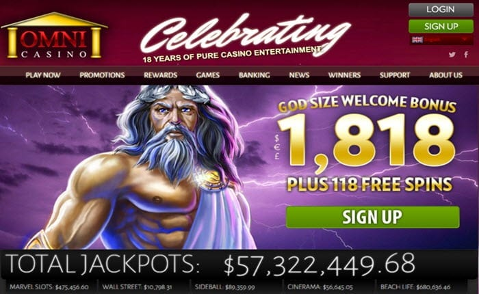 omni casino welcome bonus