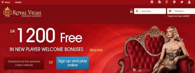 royal vegas casino bonus mobile