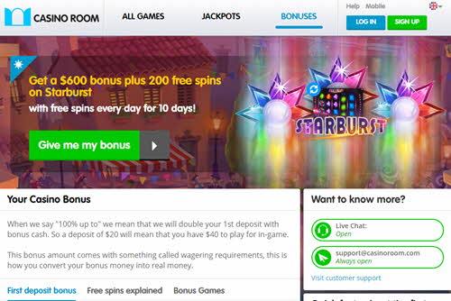 Casino Room No Deposit Code