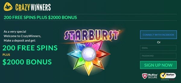 crazywinners casino promo codes