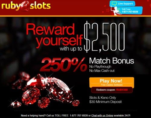 ruby slots casino match bonus