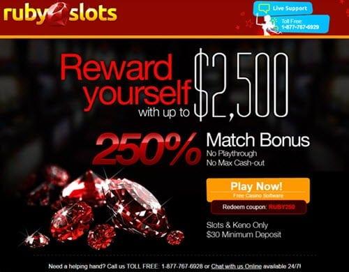 ruby slots casino match bonus
