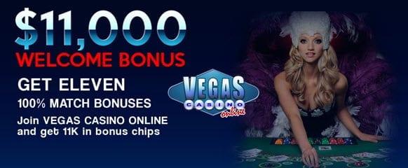 vegas casino online bonus code
