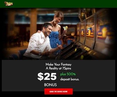 7 spins bonus no deposit