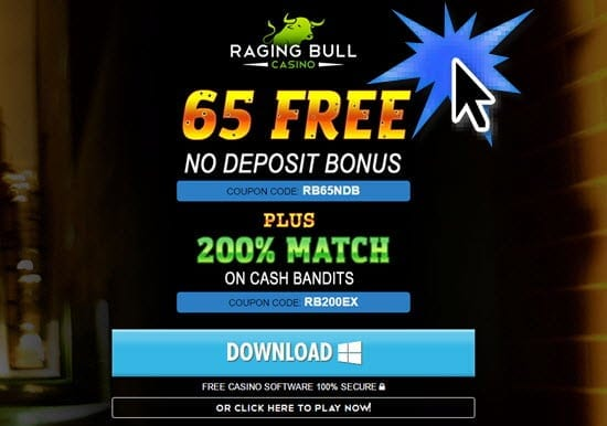 raging bull casino 200 free spins