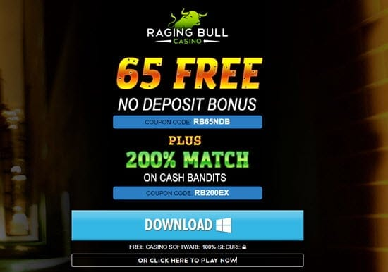 raging bull casino free no deposit bonus codes