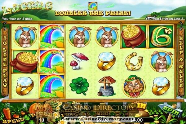 lucky 6 slot bonus