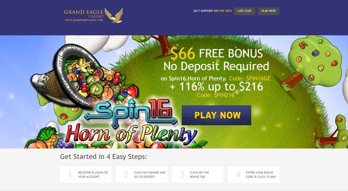 Grand Eagle Casino Online Review With Promotions & Bonuses