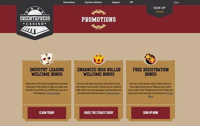 orient casino bonus code