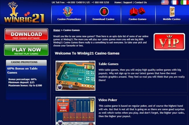 Blackjack example game