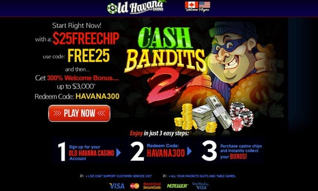 old havana casino bonus codes
