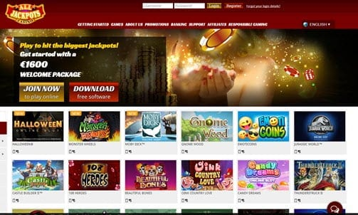 All Jackpots Casino Bonus Code