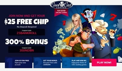 cool cat casino no deposit bonus
