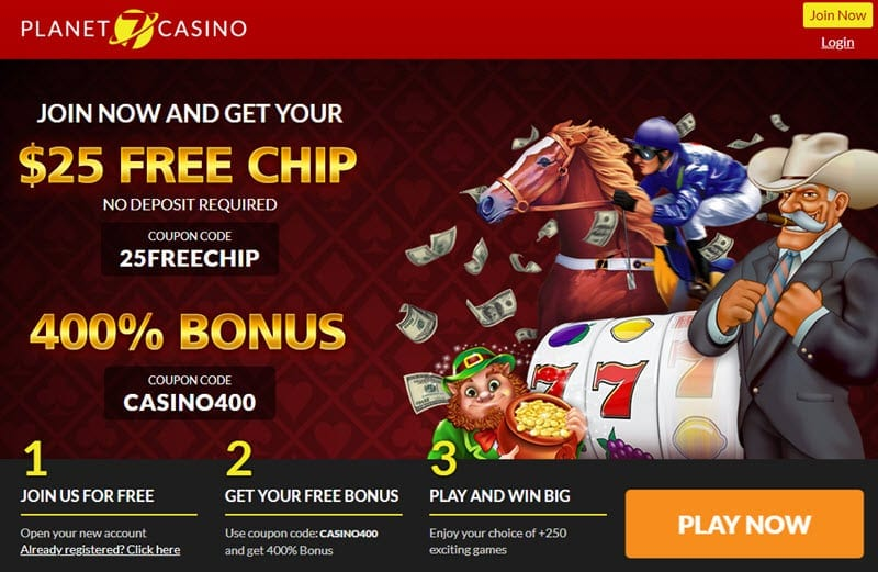 planet 7 casino free chips