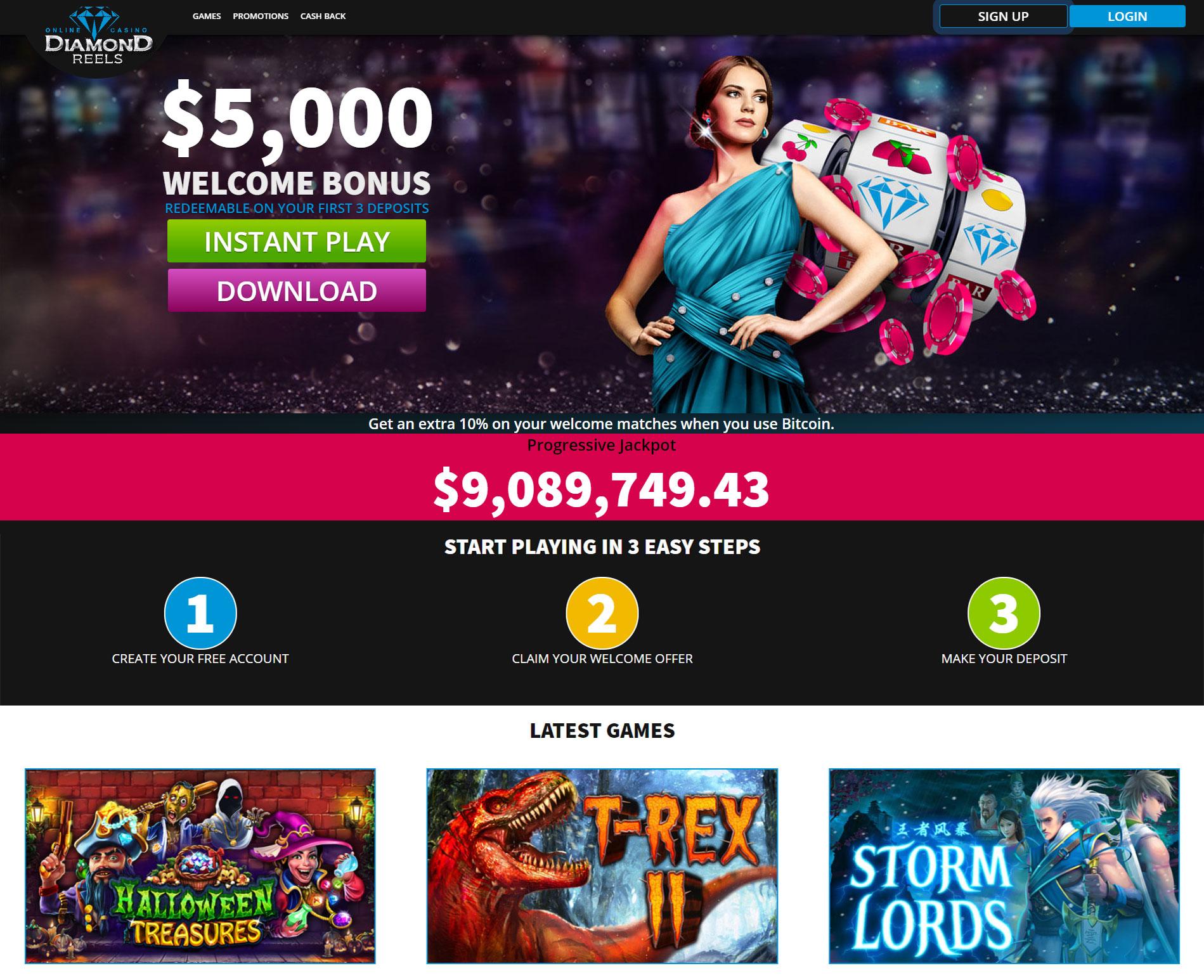 Diamond Reels Casino No Deposit Bonus Codes 75 Free Spins
